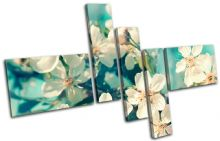 Cherry Blossom Teal Floral - 13-0334(00B)-MP18-LO